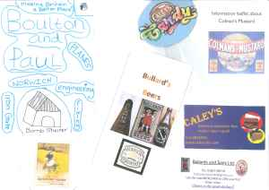 Examples of publicity material put before the Dragons.