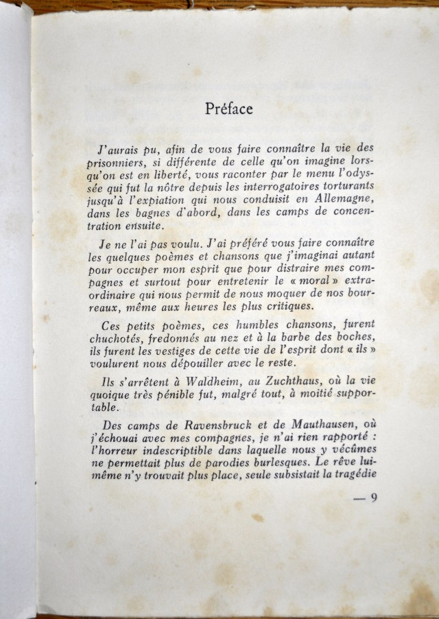 Preface in French