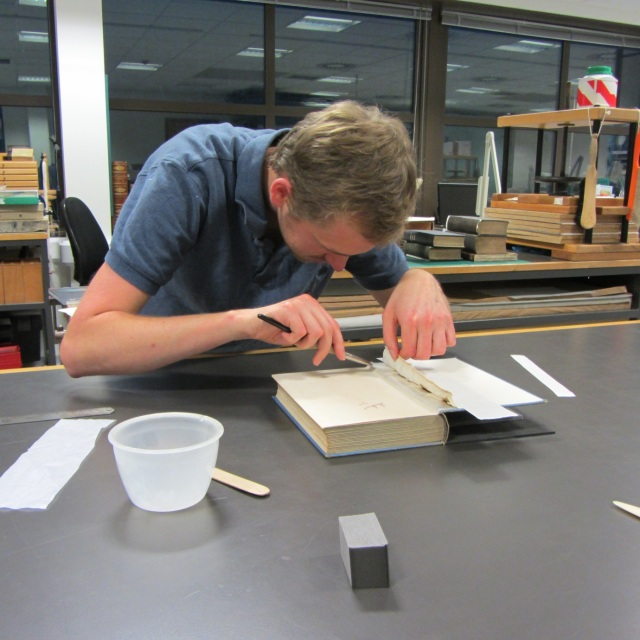 Book binding with Nick