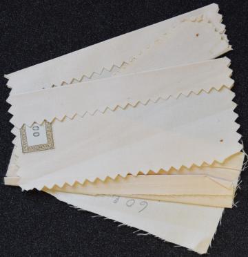 Sailcloth samples, 1937.