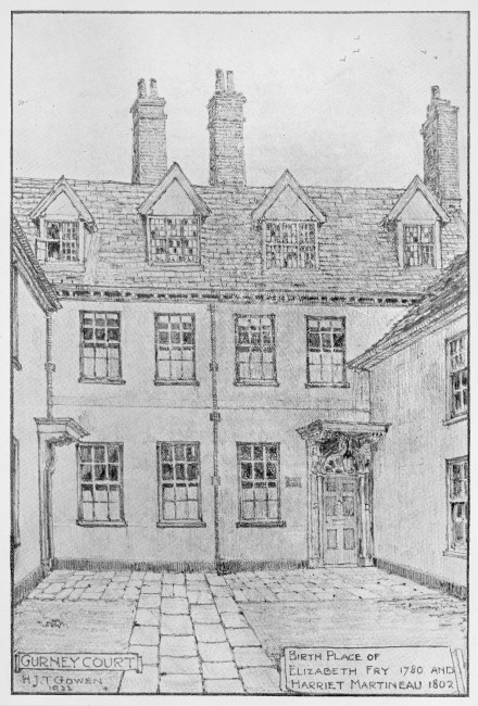 Gurney Court - Birthplace of Elizabeth Fry, from Norfolk Library and Information Service Picture Norfolk