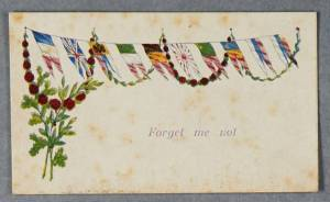 Caption: Greeting Cards inserted into WWI Silks. Catalogue reference: ACC 2015/162