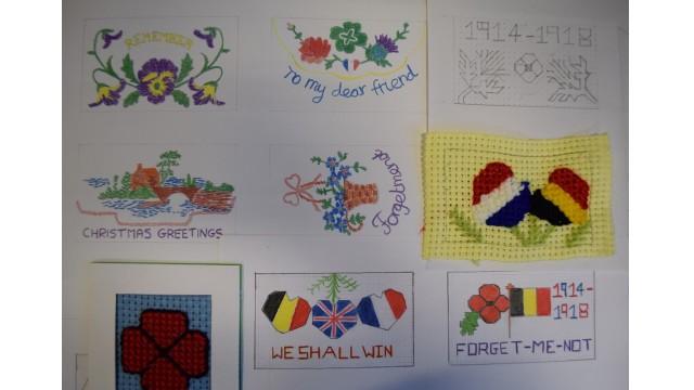 WW1 Silk embroidery designs
