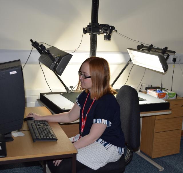 lauren-working-in-the-digitisation-room