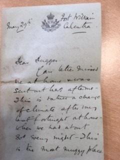 Letters from Jock Kennedy. Norfolk Record Office, ACC 2015/244/64