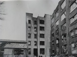 Caley's chocolate factory after the air raids. This site is now part of Chapelfield Shopping Centre. Norfolk Record Office, BR 266/171