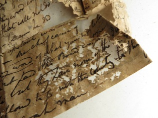 Letter in need of conservation