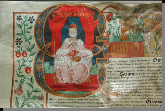 Queen Elizabeth Illuminated MS