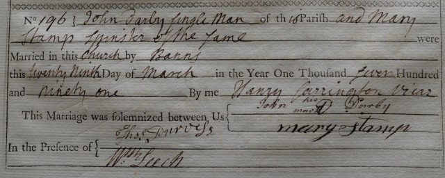 Darby marriage certificate PD 484.14