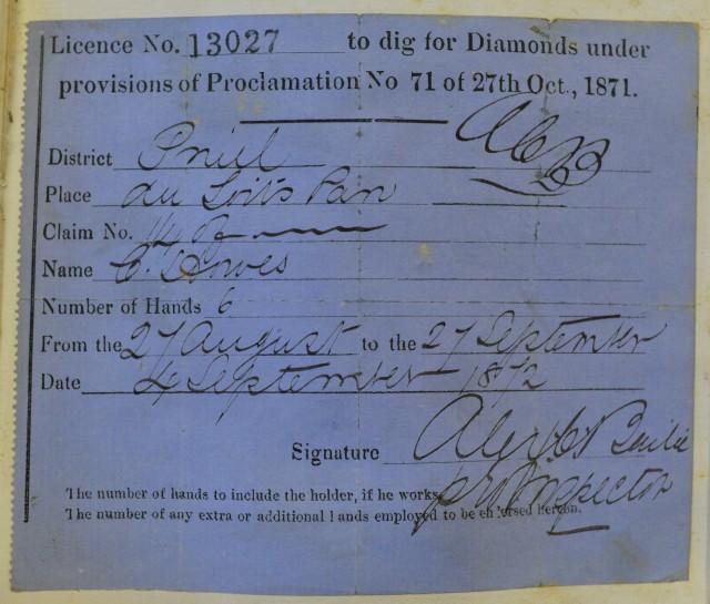 Diamond license NRO MC 340.7 710X9