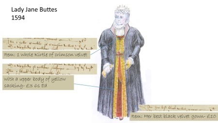 A depiction of Lady Jane Buttes from her inventory