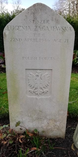 The grave of Eugenia Zagajewska